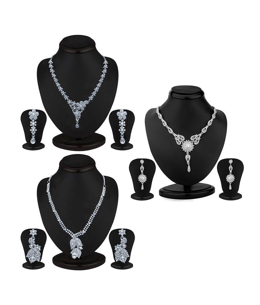 Sukkhi Ritzzy 3 Piece Necklace Set Combo