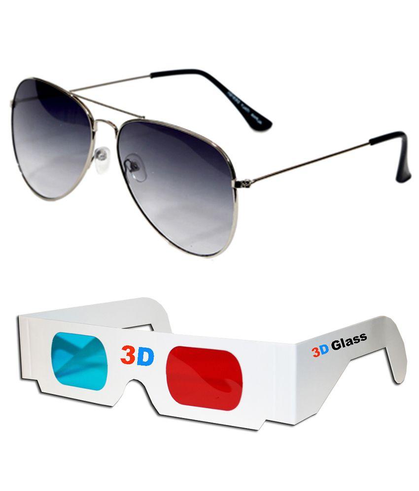 Talesara Combo Of Aviator Sunglasses + 3d Glasses - Sun4003