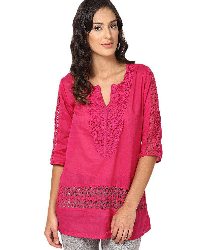 86ba922a9 U F Pink Cotton Tops - Buy U F Pink Cotton Tops Online at Best Prices in  India on Snapdeal