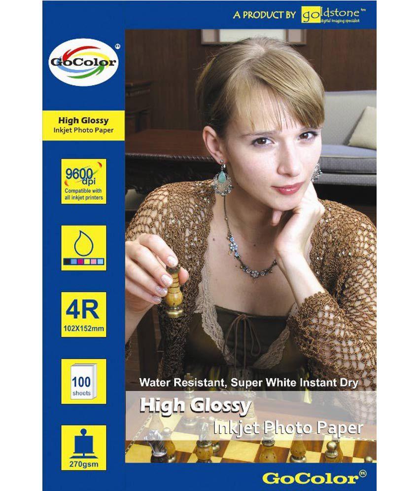 Gocolor High Glossy Inkjet Photo Paper 185 GSM 300 Sheets 4R Size