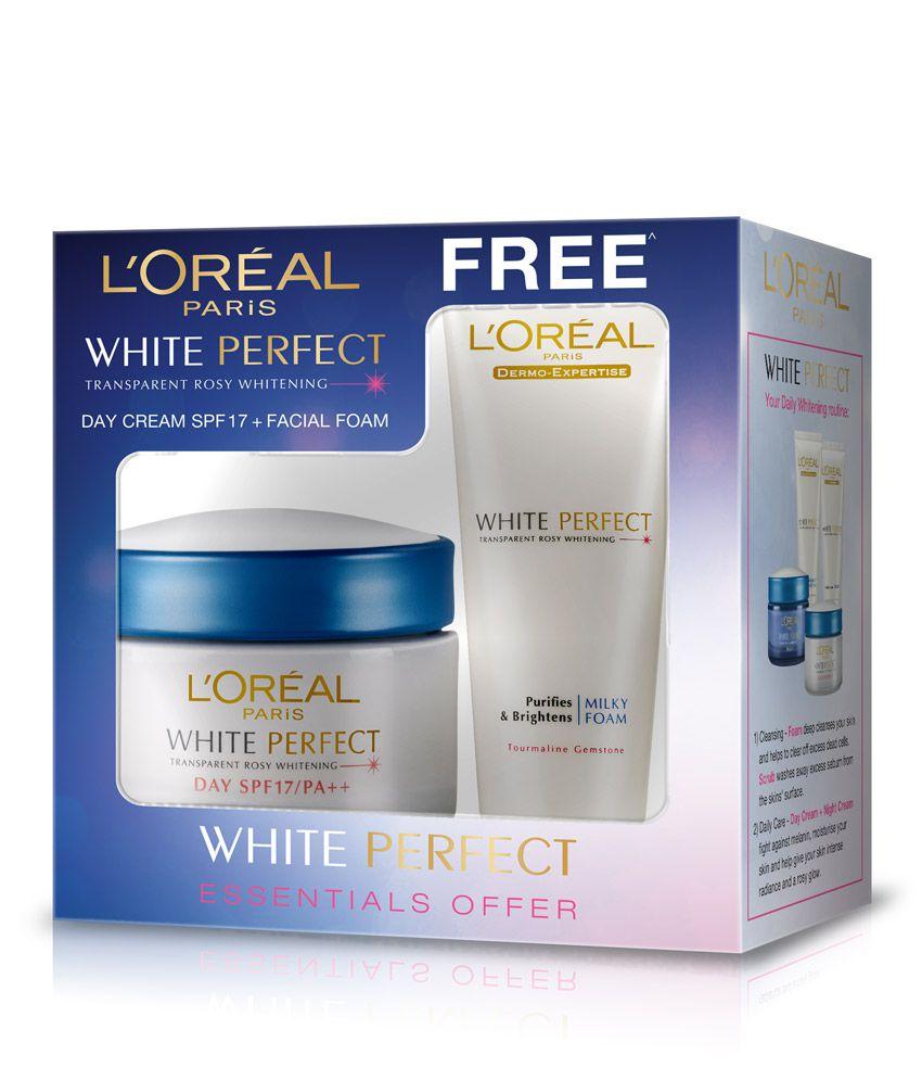 L'Oreal Paris White Perfect Day Cream 50 ml Coffret with Free L'Oreal Paris White Perfect Facial Foam 50 ml: Buy L'Oreal Paris White Perfect Day Cream 50 ml ...