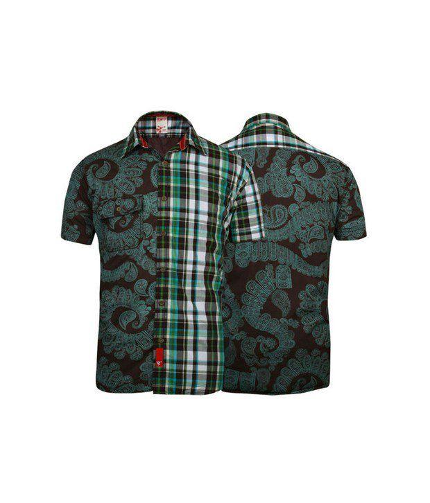 Probase Brown Printed Shirt