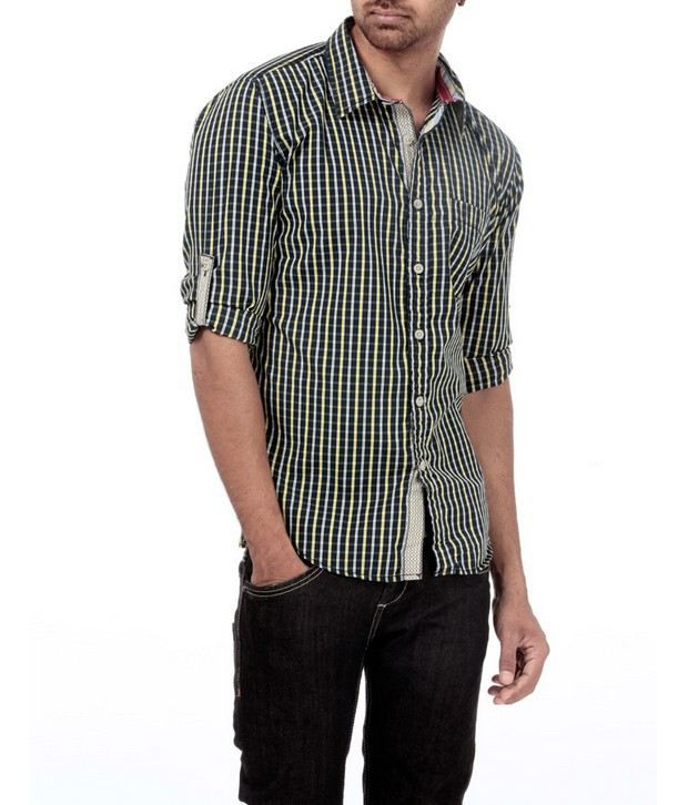Probase Navy Checkered Shirt