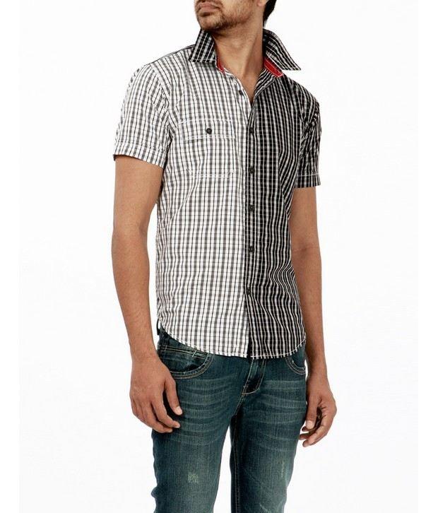 Probase White Checkered Shirt