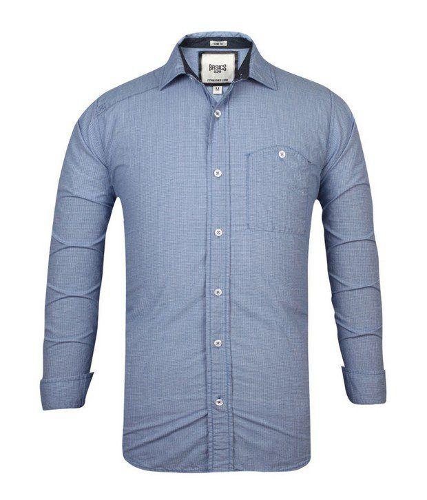 Basics 029 Blue Checkered Shirt