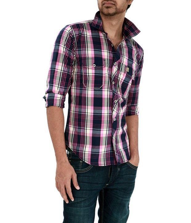 Basics 029 Pink Checkered Shirt