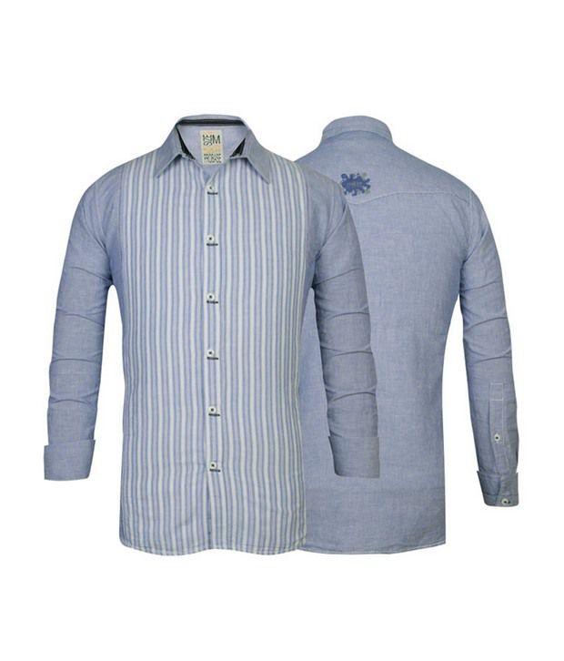 Probase Blue Striped Shirt