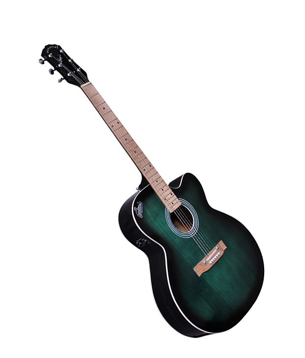Signature Gogos 265 Topaz Series Acoustic Guitar W Cut W Eq Green