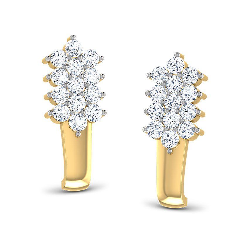 Triple-tier Studded Earrings by Caratlane