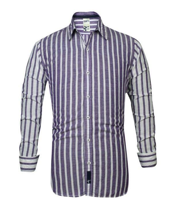 Probase Purple Striped Shirt