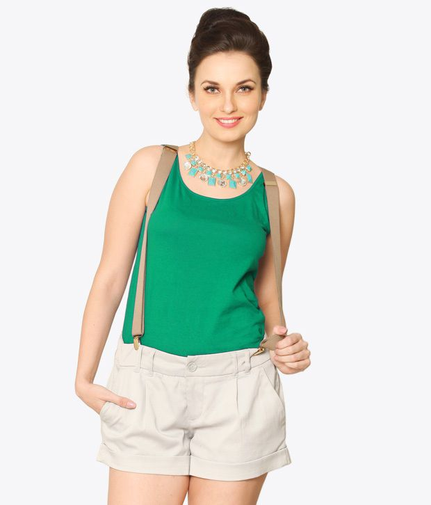 Miss Chase Cotton Tops   Green