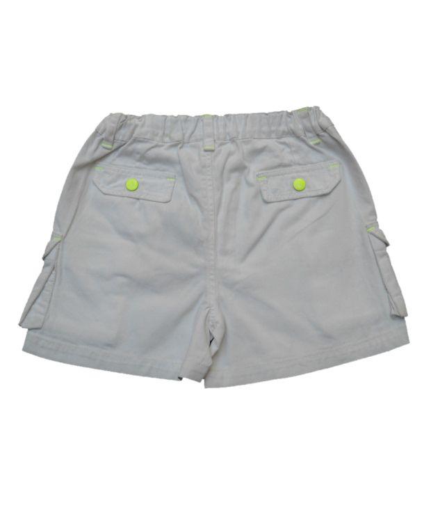 Gron Stockholm White Shorts  For Girls