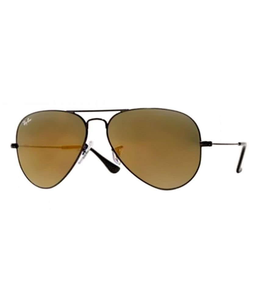 ray ban rb3025  Ray-Ban Brown Aviator Sunglasses (RB3025 R0202 58-14) - Buy Ray ...