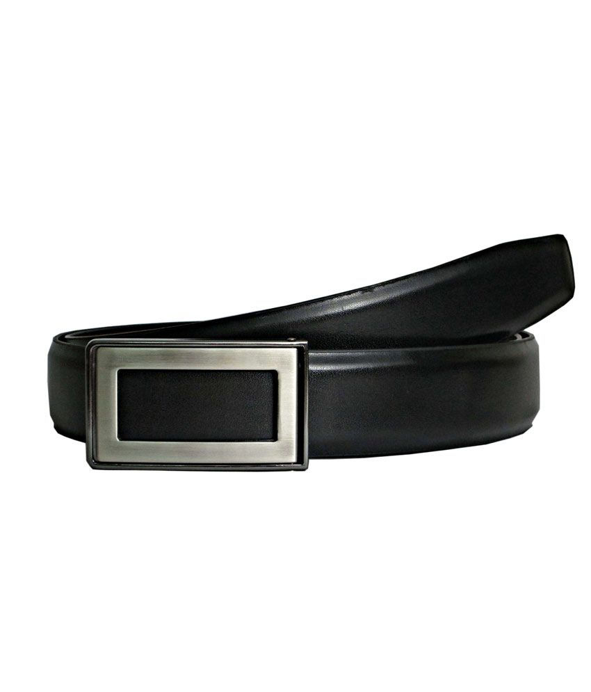 Abhinav's Black Casual Reversible Belt ForMen