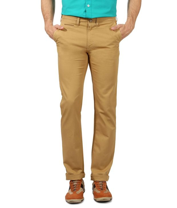 Peter England GoldenRod Slim Casuals Flat