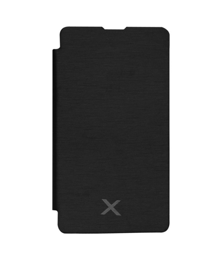 promo code 7c1e7 042f6 S&P Premium Leather Flip Cover Case For Nokia X Dual SIM Black