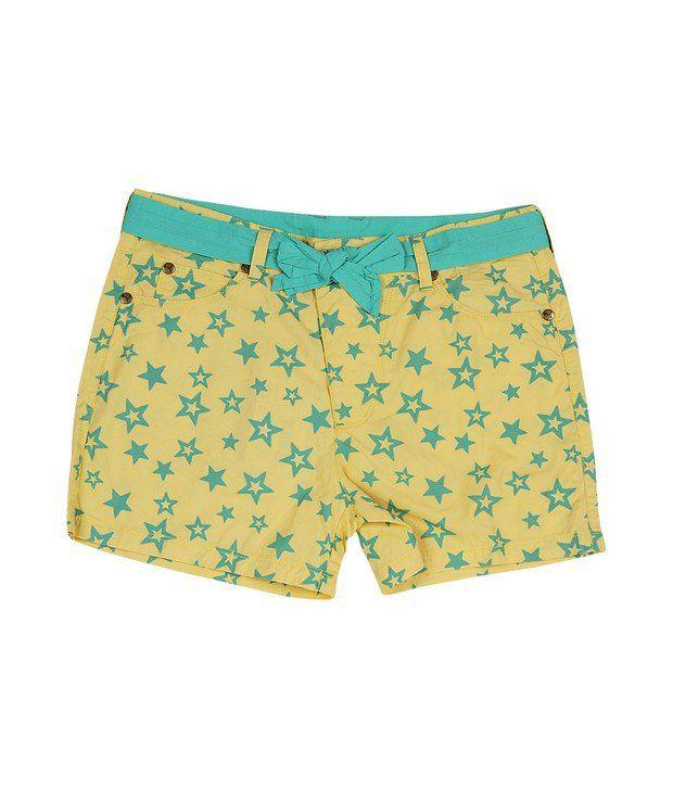 Puma Yellow Short For Girls