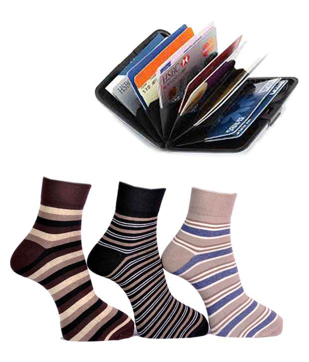 A&G Multi Casual Ankle Length Socks Men 3 Pair Pack