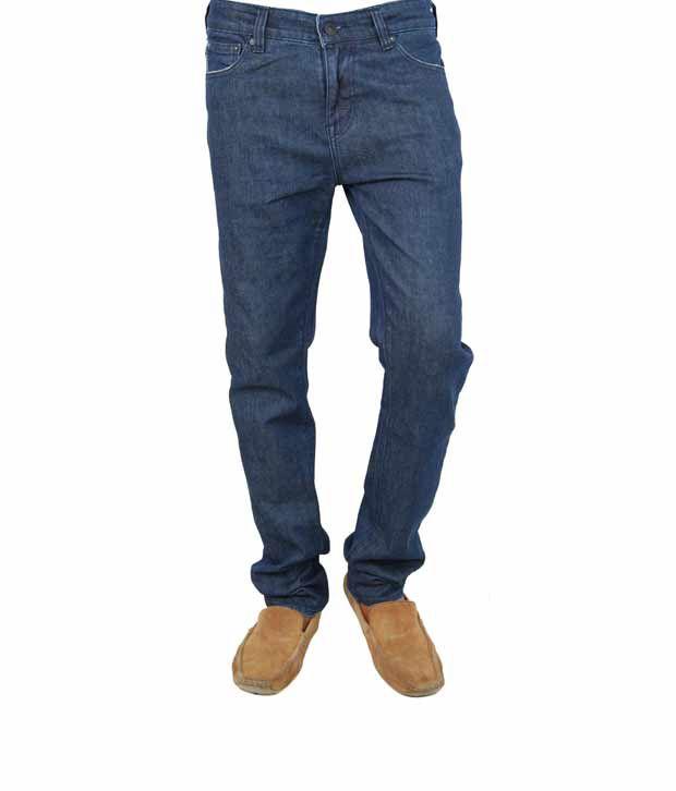 Calvin Klein Blue Skinny Cotton Jeans