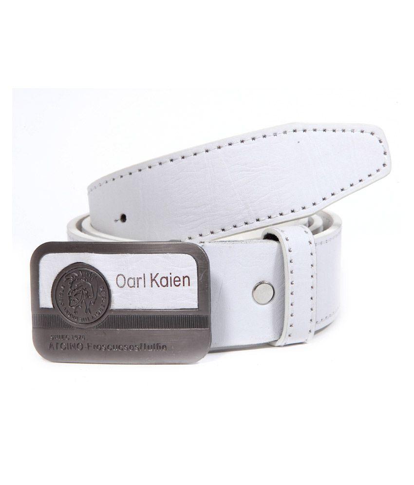 Coaster Stylish Leather Pin Buckle Belt Buckle White
