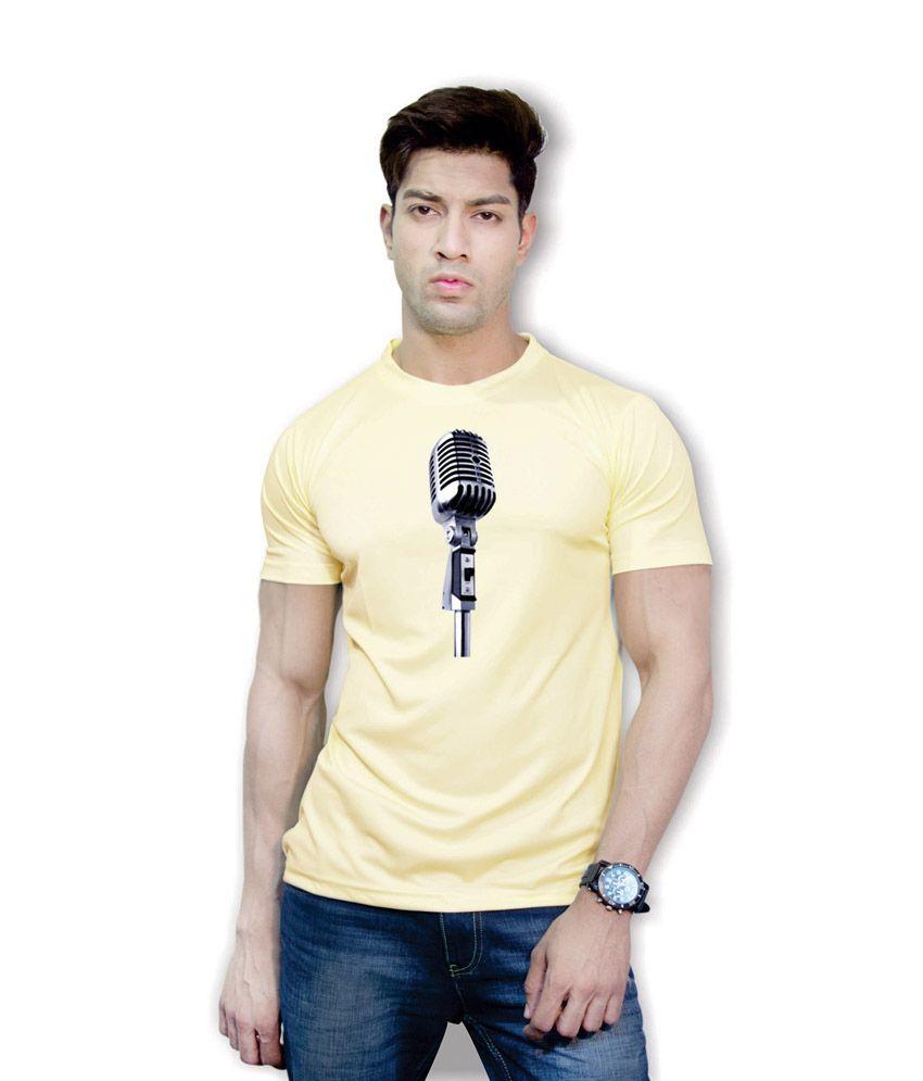 Effit Imposing 3D Design Yellow T-Shirt