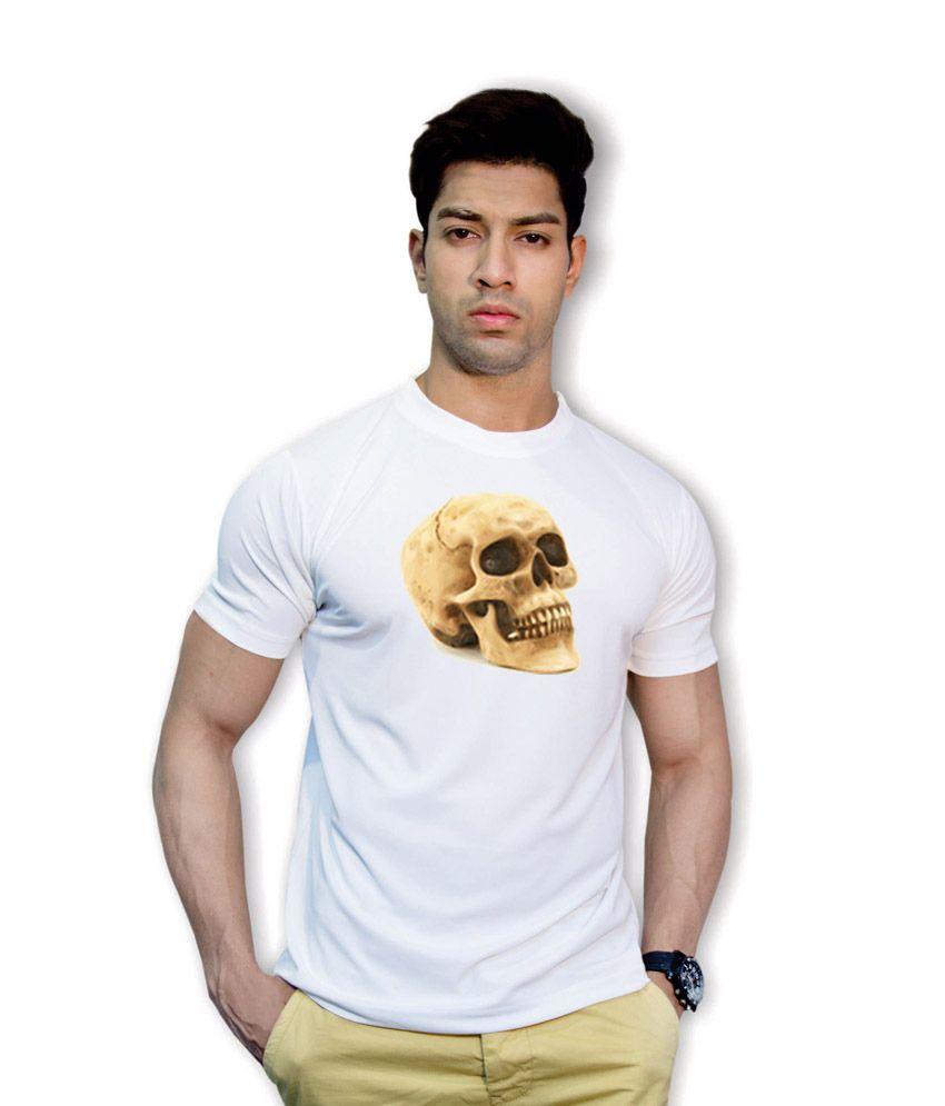 Effit Skull Art White Dri-Fit T-Shirt