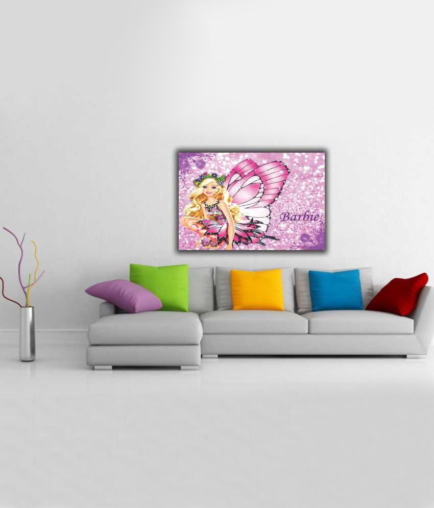 Finearts Butterfly Barbie Canvas Wall Painting: Buy Finearts ...