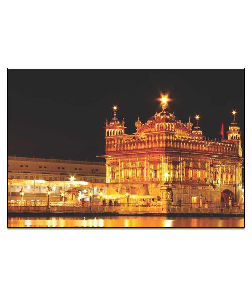 Finearts Golden Temple Canvas Wall Painting