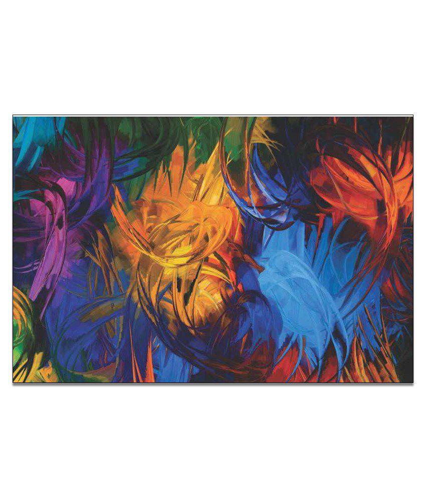 Finearts Multi Strokes Canvas Wall Painting