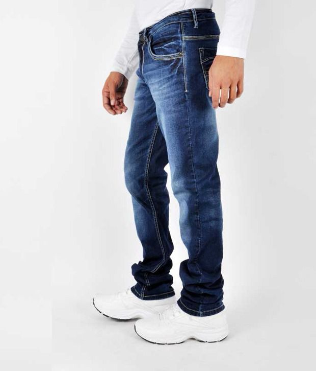 Gesture Men Jeans With Lycra Denim Slim Fit