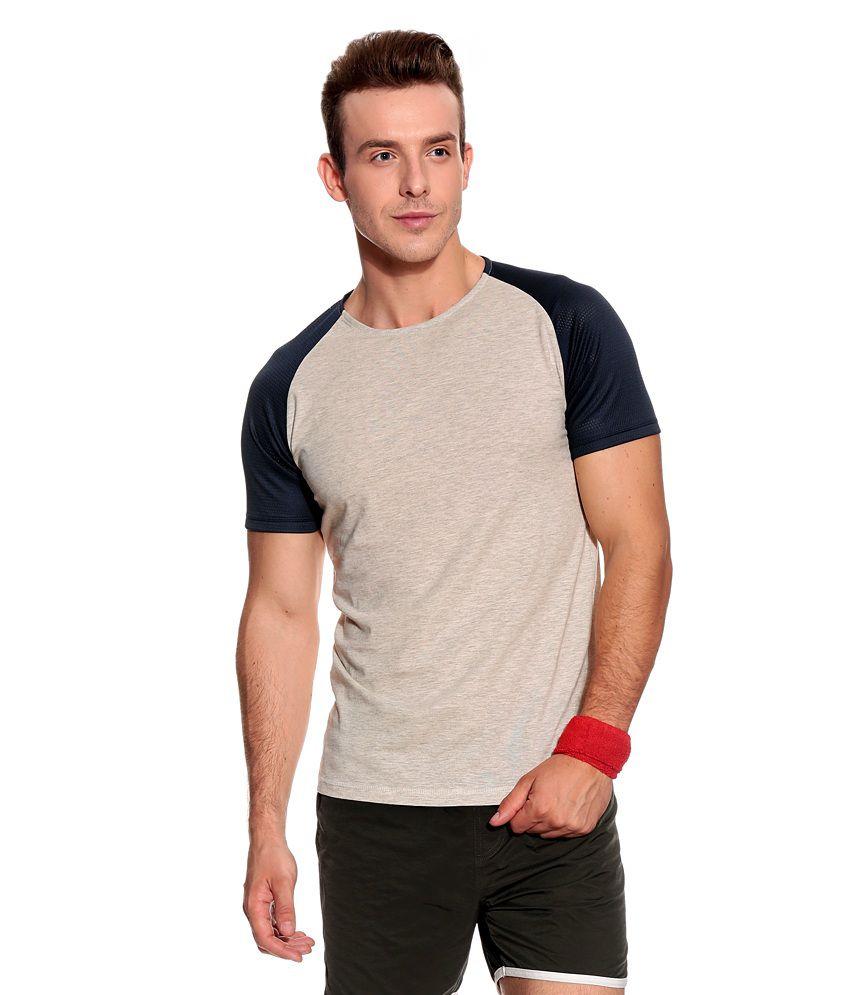 Jack & Jones Beige Cotton T-Shirt