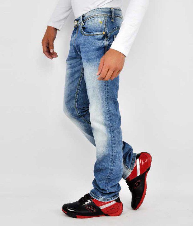 Mufti Men Jeans With Lycra Denim Slim Fit