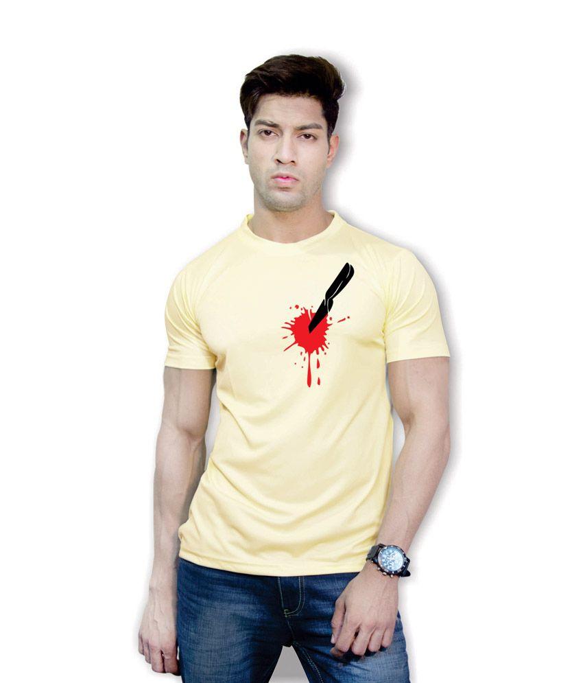 Effit Overkill 3D Design Yellow T-Shirt
