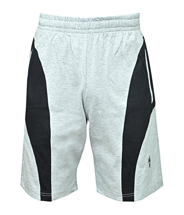 Jockey Grey-Black Cotton Shorts