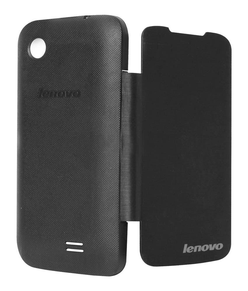 reputable site 71ffc efef0 Chevron Flip Cover For Lenovo A369i (black)