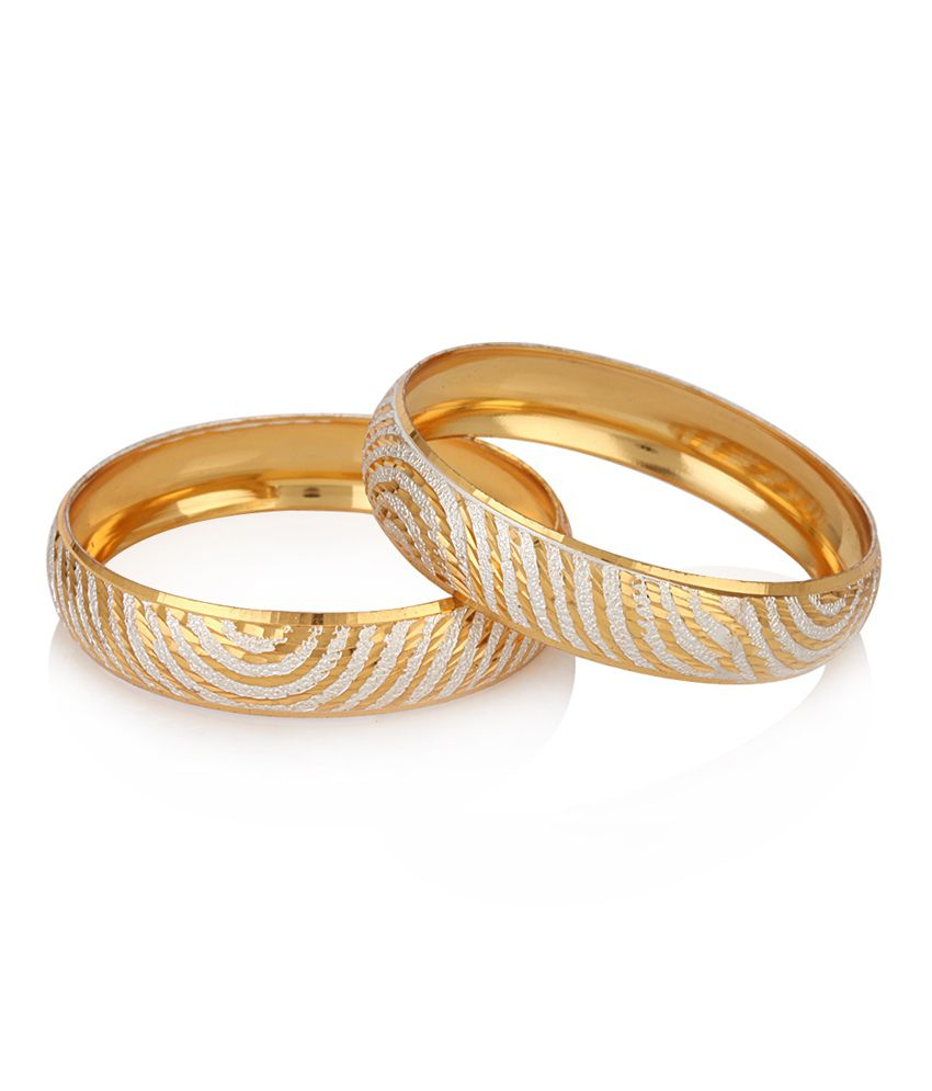 Jewels Galaxy Well Crafted Gold Plated Bangles: Buy Jewels Galaxy ...