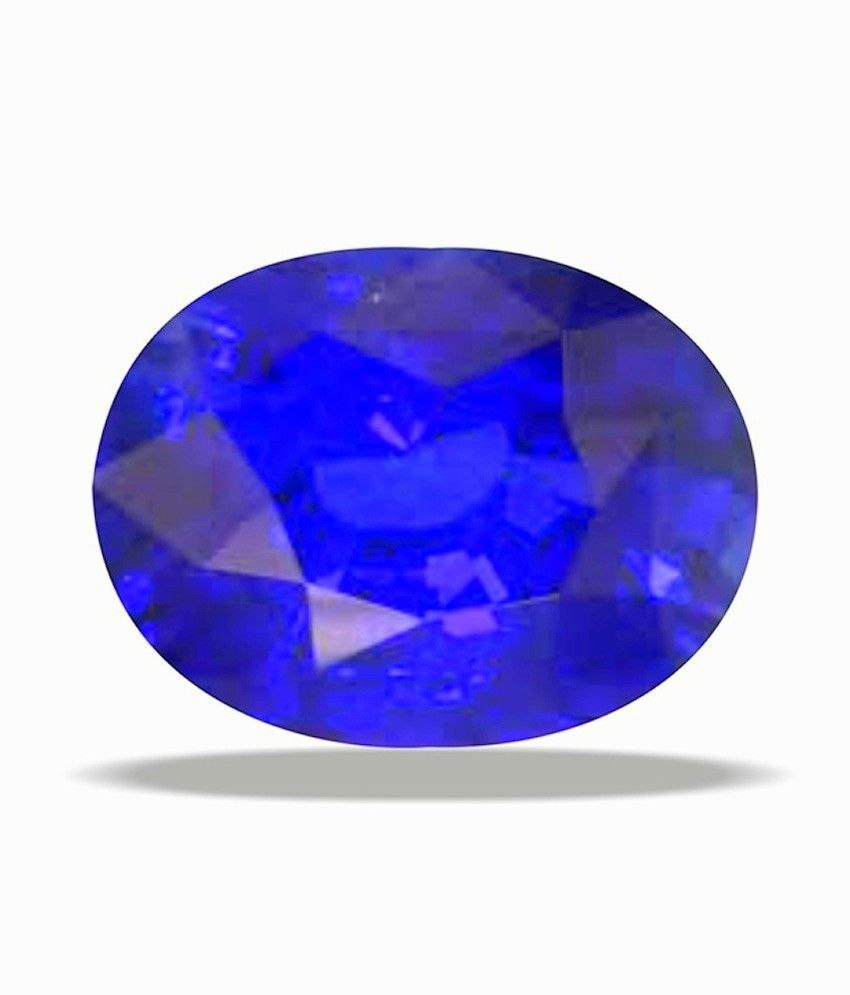 A1 Gemstones Treasures Niw's Certified Gemstone Natural Blue Sapphire (neelam) Of 4.08 Ratti ( 3.71 Carat ), Standard Category