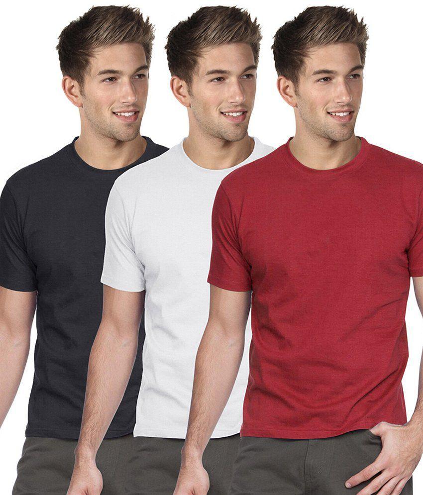 Blackburne Inc Combo Of 3 Round Neck T-shirts
