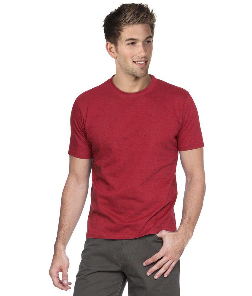 Blackburne Inc Red Round Neck T-shirt