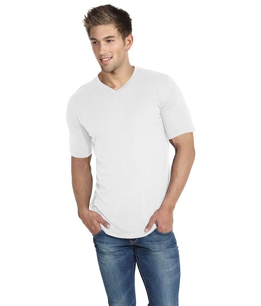 Blackburne Inc White V-neck T-shirt