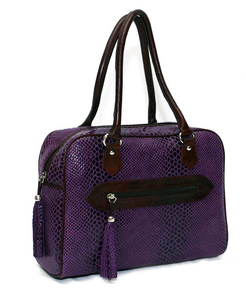 Bag Jack - The Corvi Stylish Choice Purple Color Leather Handbag