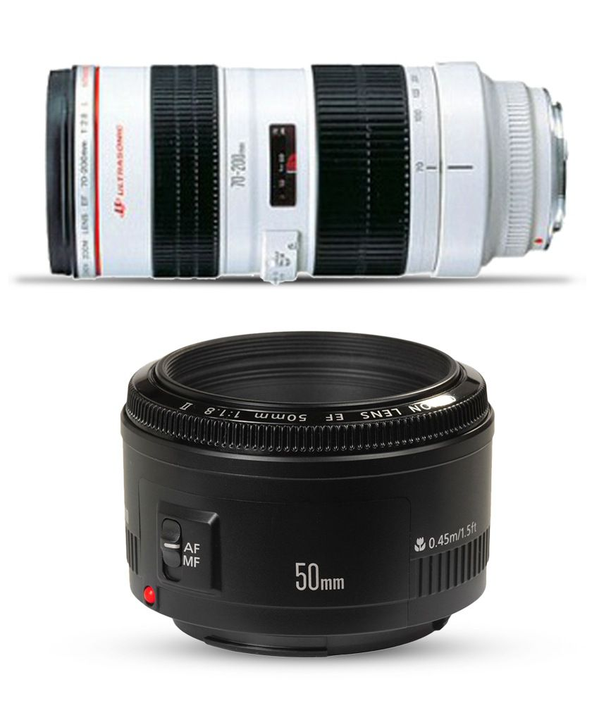 Canon EF 70-200mm Lens Combo with (Canon 50mm EF f/1.8 II Lens)