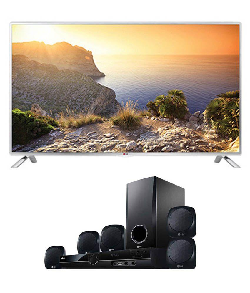 LG 42LB5820 106.68 cm (42) Full HD Smart LED Television + LG HT355 SD 5.1 DVD Home Theatre System