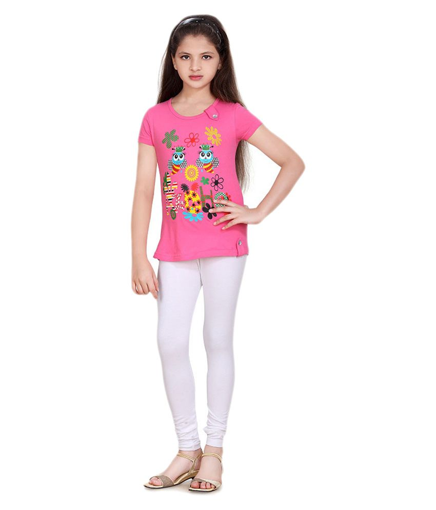 Sinimini Girls Pretty White Leggings - Buy Sinimini Girls Pretty ...