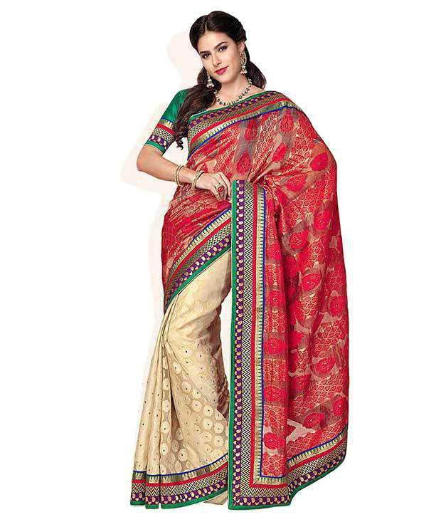 a07057d4bde859 Soch Red Printed Net Saree - Buy Soch Red Printed Net Saree Online at Low  Price - Snapdeal.com