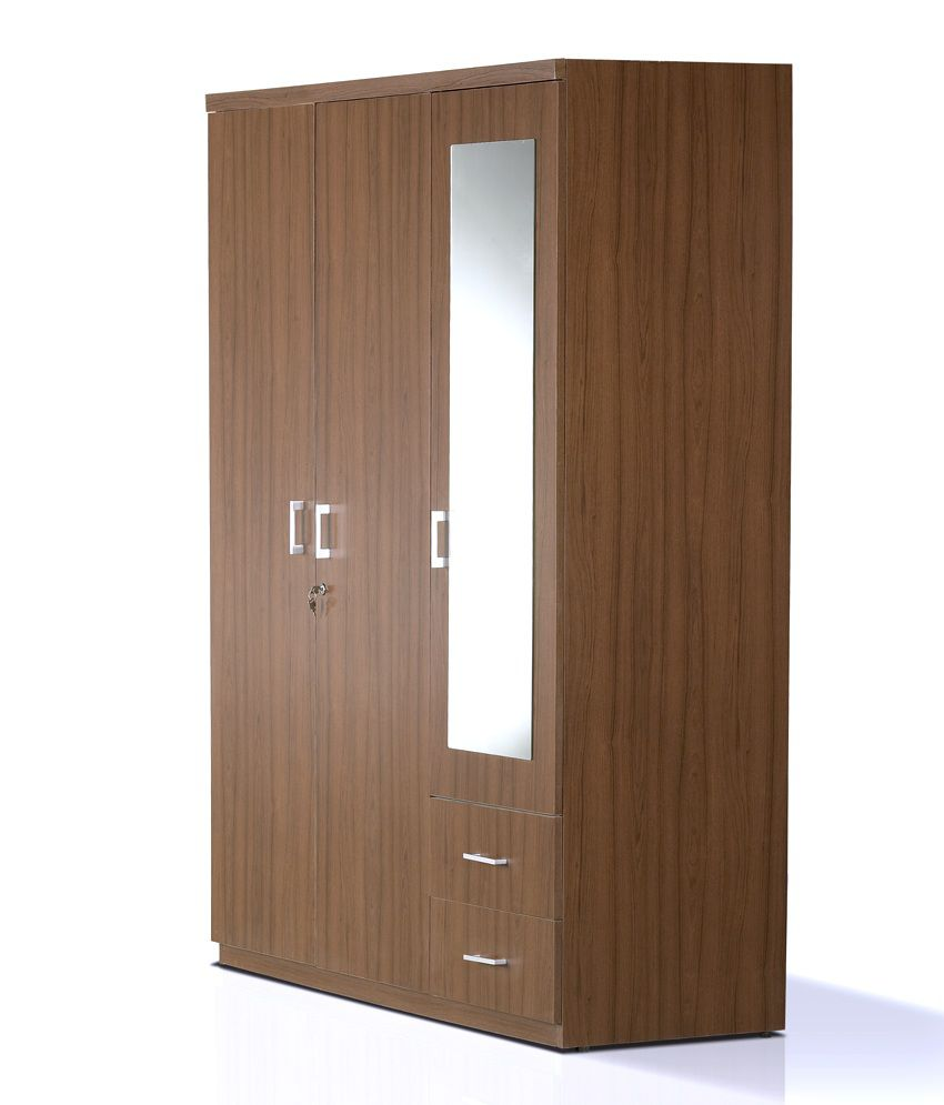 Kosmo Value 3 Door Dresser Wardrobe