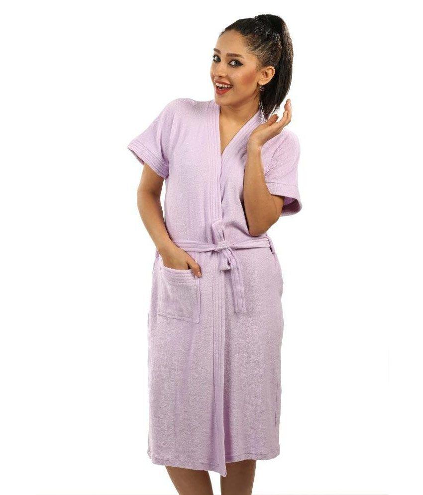 Superior Terry Towel Bathrobe Lavender