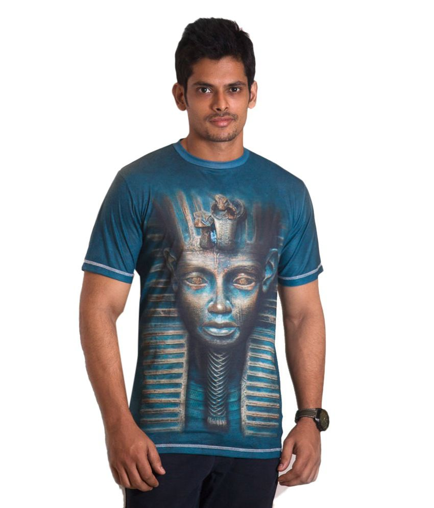 Ushirts 3d Blue Egyptian Face T-shirt