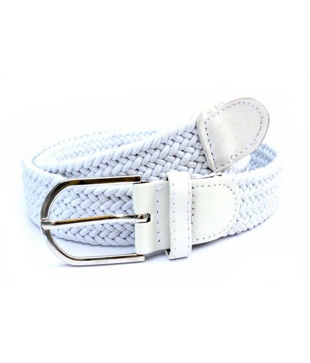 IMP White Elastic Casual Imp 3006 Belt