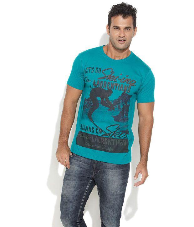 Ferrous Blue Cotton T-shirt